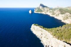 Capsule a de formentor - costa hermosa de Majorca, España - Europa Foto de archivo libre de regalías