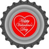 Capsule de Valentines derrière Photographie stock libre de droits