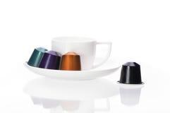 Capsule del caffè Fotografie Stock