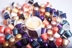 Capsule del caffè Fotografia Stock