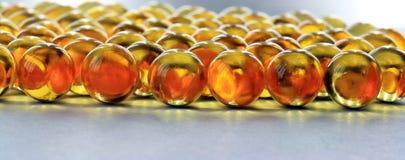 Capsule dell'olio di pesce Fotografia Stock Libera da Diritti