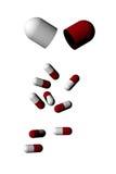 Capsule della pillola isolate Fotografia Stock Libera da Diritti