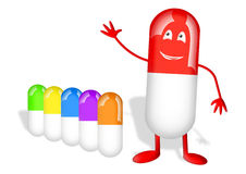 Capsule della vitamina Fotografia Stock Libera da Diritti