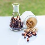 Capsule dietetiche di supplemento Fotografie Stock