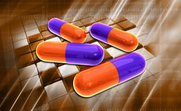Capsule. Digital illustration of Capsule in colour background stock illustration