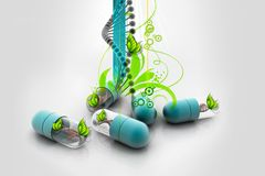 Capsule with dna Stock Photography