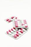 Capsule e pillole in pacchetto. Fotografie Stock Libere da Diritti