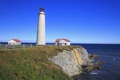 Capsule el faro del DES Rosiers, Gaspesie, Quebec Imágenes de archivo libres de regalías