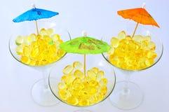 Capsule gialle Fotografie Stock