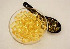 Capsule l'huile de foie de morue Photo libre de droits
