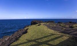 Capsule la costa costa mechant, La Reunion Island, Francia Foto de archivo libre de regalías