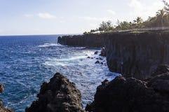 Capsule la costa costa mechant, La Reunion Island, Francia Foto de archivo
