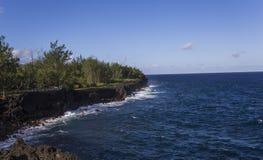 Capsule la costa costa mechant, La Reunion Island, Francia Imagen de archivo libre de regalías
