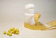 capsule la vitamine d'e Photo stock