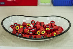 Capsule los tubos del muestreo de la sangre en un laboratorio Fotos de archivo libres de regalías