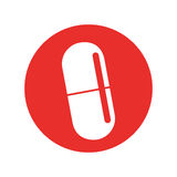 Capsule medical isolated icon Royalty Free Stock Photography