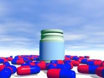 Capsule medicinali Fotografie Stock Libere da Diritti