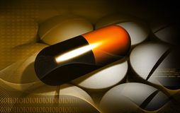 Capsule and medicine Stock Image