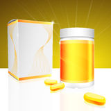 Capsule package design. Capsule box and container package design Royalty Free Stock Photos