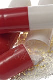Capsule/pillole aperte fotografia stock