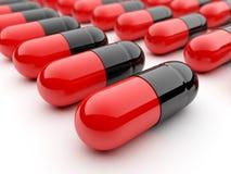 Capsule pills on white background Stock Photos