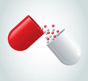 Capsule rouge Photo stock
