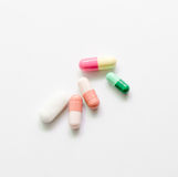 Capsule and tablets medicine mix Royalty Free Stock Images