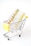 Capsule in trolley Stock Images