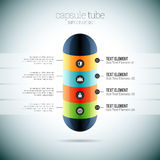 Capsule Tube Infographic Royalty Free Stock Photo