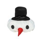 Capsule a un muñeco de nieve, zanahorias de una nariz Fotografía de archivo libre de regalías