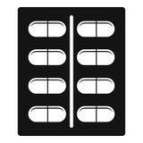 Capsules значок, простой стиль Стоковая Фотография