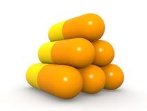 capsules пирамидка Стоковое Фото