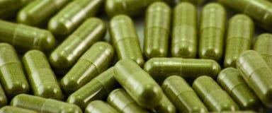 capsules травяная широкая Стоковое Изображение RF