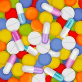 Capsules Royalty Free Stock Photo