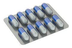 Capsules in blister medicament Royalty Free Stock Photography