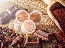 Capsules of chocolate Stock Photo