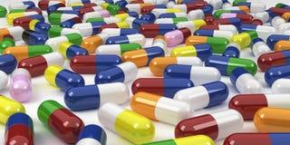 Capsules colorées Image libre de droits