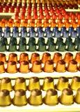 Capsules colorées de café Images stock