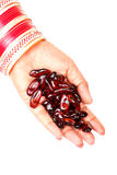Capsules d'huile de lin Image libre de droits