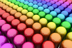 Capsules de couleur Photo stock