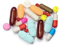 Capsules de supplément de vitamine de pilules Images libres de droits