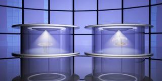Capsules de téléportation, 3d Photographie stock libre de droits