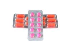 Capsules emballées dans la boursouflure Image stock