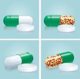 Capsules en pillen Stock Afbeelding