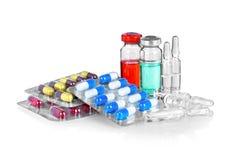 Capsules en pillen in blaren worden ingepakt die, Royalty-vrije Stock Afbeelding