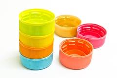 Capsules en plastique Image stock