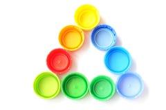 Capsules en plastique colorées Image libre de droits
