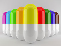 Capsules in group Royalty Free Stock Photography