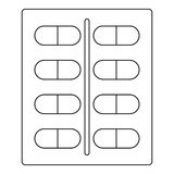Capsules icon, outline style Stock Photography