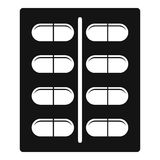Capsules icon, simple style Stock Photography